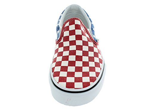 Vans Van Doren Slip-On Unisex Shoes Red Blue