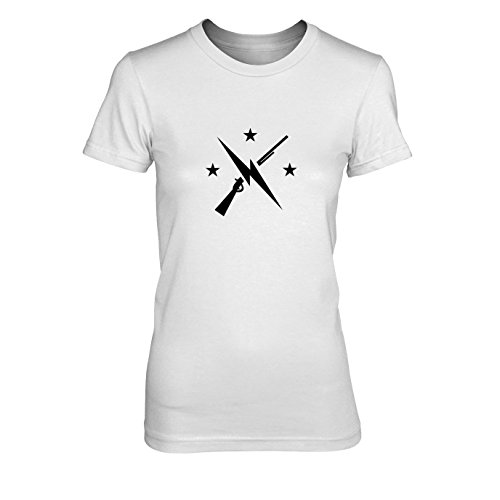 (Planet Nerd Commonwealth Fighters - Damen T-Shirt, Größe: XL, Farbe: weiß)