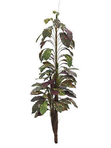 artplants – Künstlicher Kroton Aram mit 4 Stämmen, auf Steckstab, 180 cm – Wunderstrauch Kunstpflanze/Deko Pflanze