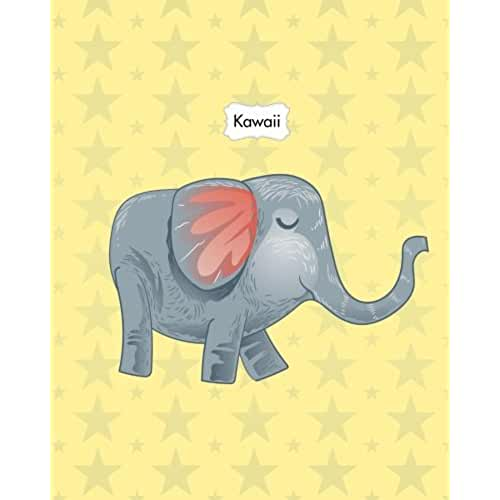 dia del libro kawaii Kawaii: Animals Cute Kawaii Sweet Notebook Stationery 8x10 Lined Journal Lion Elephant Kangaroo Giraffe: Volume 3 (Kawaii Cute Animals Sweet Pastel Color Notebook Journal Stationery Series)