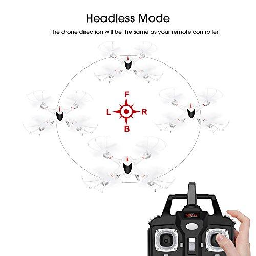 DBPOWER--Drone-X400W-MJX-WIFI-FPV-con-Telecamera-per-Video-dal-Vivo-Quadrirotore-Stabile-con-Headless-Mode-Facile-da-Controllare-per-Principianti-e-per-Fare-Pratica--Compatibile-con-Cuffia-VR-3D