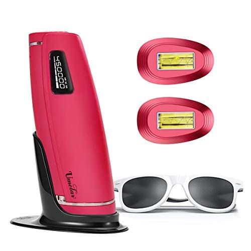 IPL Geräte Haarentfernung IPL Haarentfernungsgerät 3 in 1 600000 Blitze Schmerzlos Laser Rasierer Haarentfernung Gerät Mit HR SC RA Funktion Für Körper, Gesicht, Bikini und Unterarme (Rose rot)