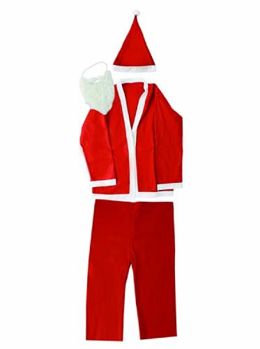 Kostüm Weihnachtsmann Komplette - Galileo Casa Weihnachten komplett Kostüm Weihnachtsmann, Filz, Rot, 1x 40x 200cm