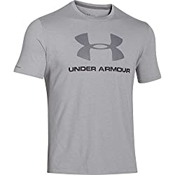 Under Armour Cc Sportstyle Logo Camiseta de Manga Corta, Hombre, Gris (True Grey Heather), M