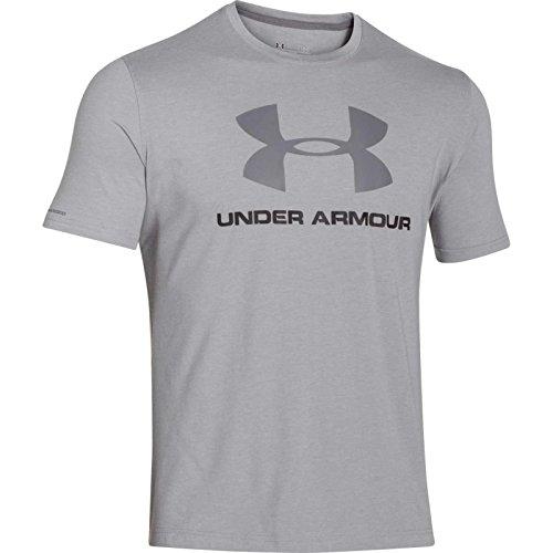 Under Armour Herren CC Sportstyle Logo Kurzarmshirt, Grau (True Gray Heather), MD