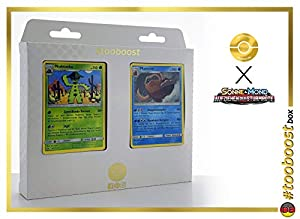 Octillery (Octillery) 23/111 Y Trioxhydre (Hydreigon) 62/111 - #tooboost X Soleil & Lune 4 Invasion Carmin - Box de 10 Cartas Pokémon Francés + 1 Goodie Pokémon