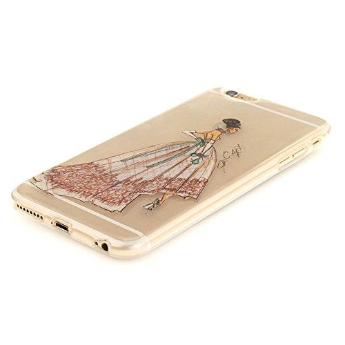 Nutbro iPhone 6 Case, iPhone 6S Case Clear Case, IMD Design Pretty Pattern Ultra Thin Transparent Shock-Absorption Protective Bumper Flexible TPU Gel Shell Cover TPU-TX-iPhone-6S-44