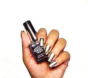 Miss Nails Mirror Chrome Nail Polish MC04 Silver Night
