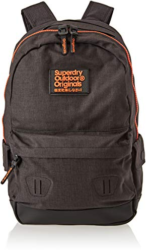 Superdry Herren Fresh International Montana Rucksack, Schwarz (Nero), 30x45x15 Centimeters