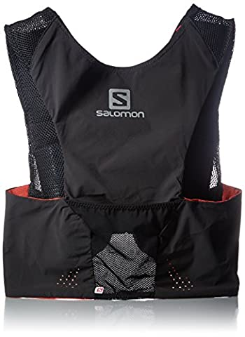 Salomon L37199000 S-Lab Sense Veste d'hydratation Noir/Blanc/Rouge Taille XL