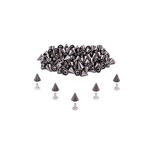 Weddecor 50PCS argento borchie borchie 8 mm x 8 mm con perni per  decorazioni 8a29dc08bfb