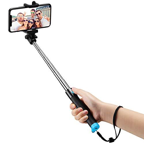 Mpow iSnap Pro X-Palo Selfie Bluetooth Extensible Remoto Portátil Universal para Selfie con Obturador Integrado y Correa para iPhoneX/8/7/7Plus/6/6P/Se/6s/6sP/5s,Huawei,Xiaomi,Samsung etc (azul)