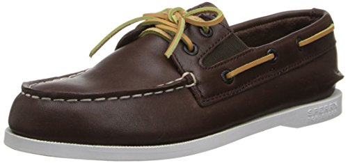 Sperry Top Sider A/O Slip On Cuir Chaussure de Bateau brown
