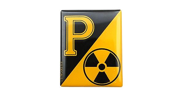 Miovespa Collection 3d Aufkleber Gewölbt Für Die Vorderseite Horncasting Abzeichen Ihrer Vespa Radioactive Collection Mit Gelbem P Auf Schwarzem Hintergrund Auto