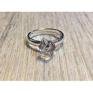 Swarovski Kristall Würfel Cube verziert mit Ring Fingerring 925 Sterling Silber