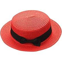 Weimilon Bowknot Donna Elegante Hat Cappello Cappello Traspirante Uomo  Cappelli Caps Paglia Cappello Estivo Paglia Con 6cf7ec5e1459