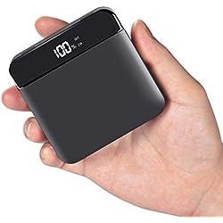 Beefix Power Bank 20000mAh Rápida Batería Externa Banco de Energía Pantalla LCD Digital 2 Salida USB y Cargador de Teléfono, para iPhone, Sumsung, Huawei, Xiaomi Smartphone y HP TouchPad