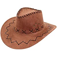 Marrone - Cappello - Cowboy - Cowgirl - Far West - Western - Rodeo - Saloon  - Sceriffo - Costume - Travestimento - Carnevale - Halloween - Cosplay ... ad7b3f270da5