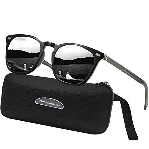 LEDING&BEST Sonnenbrille für Herren Damen Polarisierte/Radfahren Golfen Fahren Angeln Klettern Vintage-Brille Outdoor-Sportarten Strand Sonnenbrillen (b1lack)