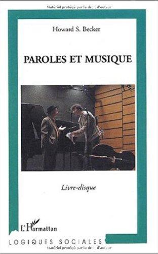 Paroles et musique (1CD audio)