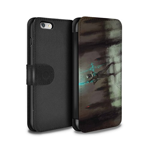Offiziell Chris Cold PU-Leder Hülle/Case/Tasche/Cover für Apple iPhone 6S / Hades/Phantom Muster / Unterwelt Kollektion Schatten Ritter