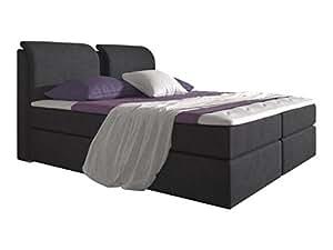 stilea boxspringbett 180x200 mit visco memory topper 6 cm 7 zonen taschenfederkern matratzen h2. Black Bedroom Furniture Sets. Home Design Ideas