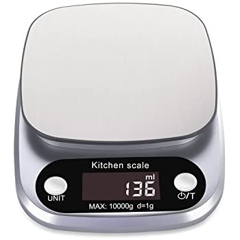 Rophie accurate digital kitchen scale 22lb 10kg small food for Best kitchen scale for baking