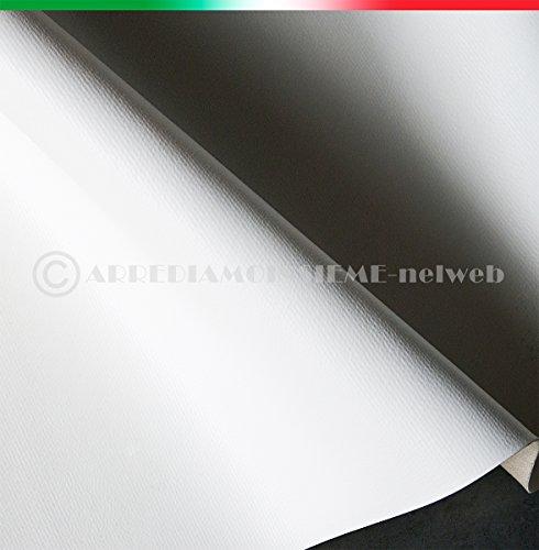 TESSUTO ECOPELLE BIANCO vendita al metro h140 cm finta pelle per rivestimenti 100%MADE IN ITALY