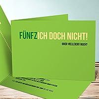 Originelle Einladungskarten 50 Geburtstag, Einladung Zum Geburtstag  Fünfzich 5 Karten, Horizontale Klappkarte 148x105 Inkl