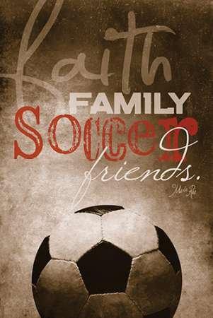 Marla Rae – Glauben-Familien- Fussball Kunstdruck (30,48 x 45,72 cm) (Glauben Fußball Und Familie)