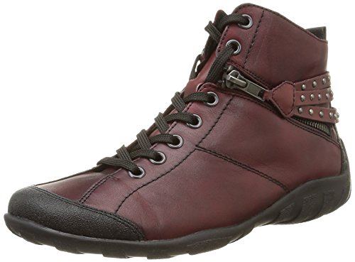 Remonte R3477, Women's Hi-Top Sneakers, Red (Schwarz/Chianti/Burgund/35), 5 UK (38 EU)