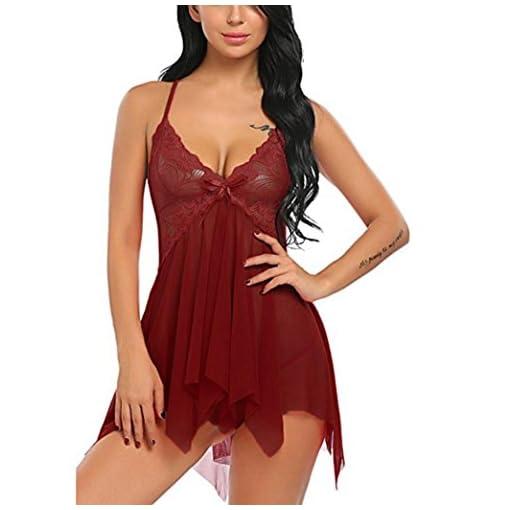 CLOOM-lingerie-sexy-donna-Lingerie-delle-donne-Pizzo-floreale-biancheria-intima-V-Neck-biancheria-da-notte-Cinghia-chemise-Baby-doll-Set-Prospettiva-Pigiama-Gonna