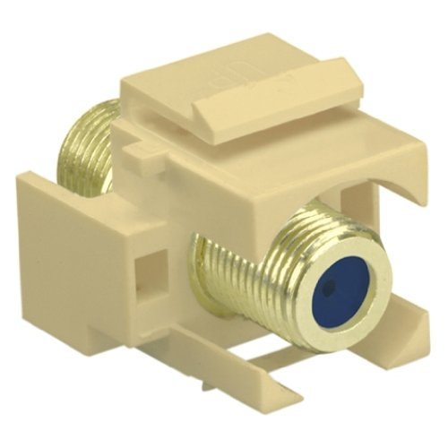 OnQ / Legrand WP3482LA Recessed SelfTerminating FConnector, Light Almond by Legrand-On-Q (Almond Light Plate Wall)