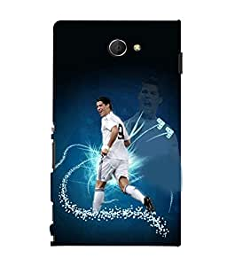 printtech Football Player Back Case Cover for Sony Xperia M2 Dual D2302::Sony Xperia M2