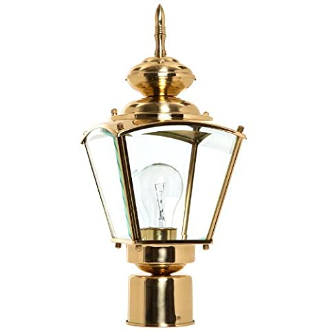 Boston Harbor 4007H2 1-Light Post Coach Lantern, Brass by Boston