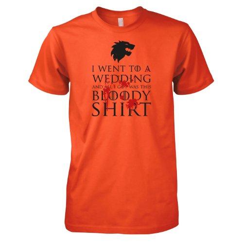 TEXLAB - GoT: Bloody Wedding - Herren T-Shirt Orange