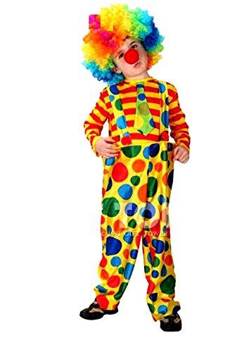 Jahre - Kostüm Verkleidung Karneval und Halloween von Clown Fett von Zirkus Farbe Gelb männliches Kind (Fett Halloween Kostüm)