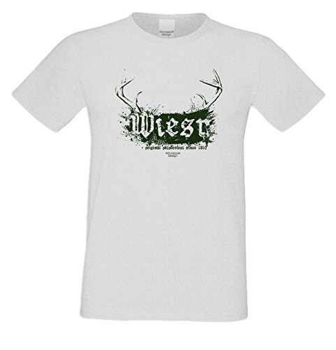 Wiesn : Lustiges Fun T-Shirt für Herren Männer Volksfest Trachtenshirt Maidult Oktoberfest auch in Übergrößen bis 5XL Farbe: grau Grau