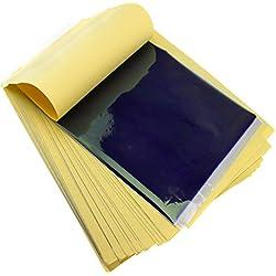 50x Tattoo Papier Matritzenpapier Transferpapier Thermal Tätowierung Vorlagen Set