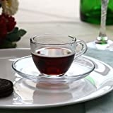 Pasabahce Basic Set of 6 Cup & Saucer, 9...