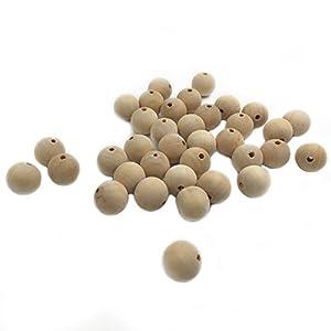 41nnapyNULL. SS300 Coskiss 100pcs Giocattoli del Teether del bambino 0.39inch (10mm) Perle rotonde naturali di legno Teether per masticazione infermiera per la bici dei braccialetti di Teether del bambino (100pcs)