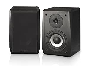 Thonet and Vander VERTRAG - 2.0 Wooden Bookshelf Speakers (black, pair) - German Engineering and Design
