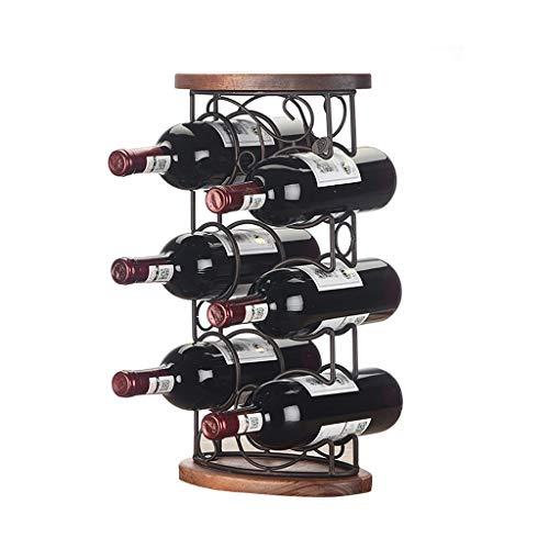 Etagère à bouteilles multi-bouteilles Personnalité créative européenne Mobilier de famille Etagère à vin à plusieurs couches racks de vin