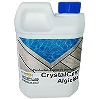 CrystalCare Algicida previene y Elimina Algas en Piscinas, Fuentes Públicas, Spas, Jacuzzis. Antialgas Botella 2 Lt.