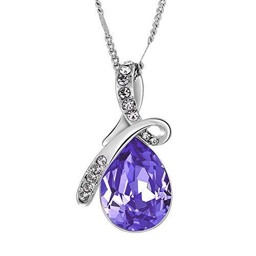 YMWLKE Halskette Halsketten für Frauen Frau Feine Halskette Angel Tears - Kristallkette der Ornamente by (Farbe : 1)