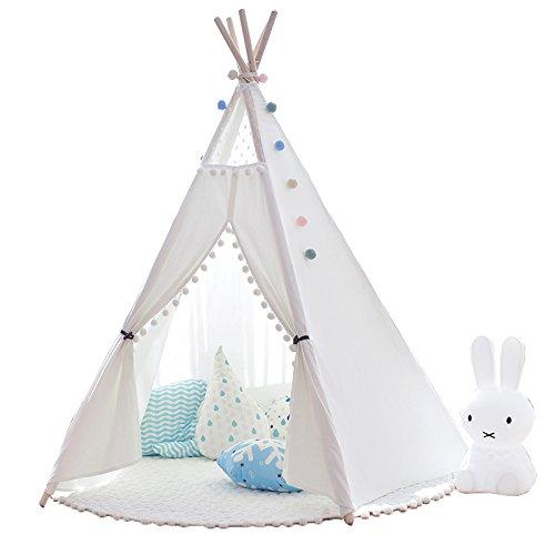 little dove Indianerzelt Tipi Zelt Spielhaus Spielzelt Kinderzelt Baumwolle (mit Matratze)