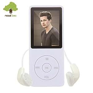 NOZA TEC LCD 16GB MP3 MP4 Video Stereo e-Book Musica Radio FM Bianco