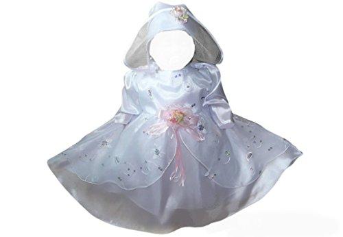Kleid für die Taufe, Hochzeit und alle anderen Anlässe, Taufkleid für Baby, Taufkleidung für Babys, Kleidchen für Mädchen Y12 Gr. 80/86 (Taufkleider Designer)