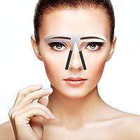 Modelos de cejas Plantilla de bricolaje, Stainess Ceja de acero Regla de medición Tatuaje Microblading Maquillaje permanente Herramienta de posicionamiento de oro Ratio(3)