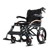 Shisky Elderly wheelchair folding lightweight elderly disabled ultralight portable aluminum travel trolley